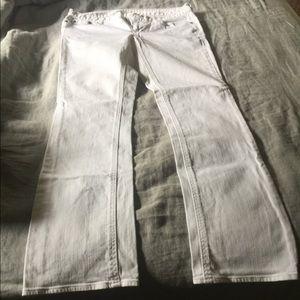 Jcrew White Matchstick Jeans